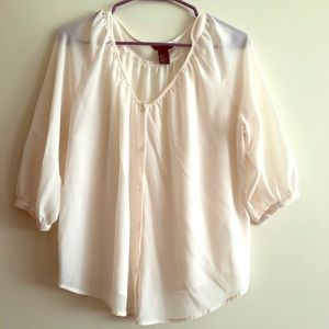 H&M Button up Long Sleeve Blouse